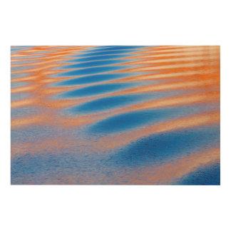 Impression Sur Bois Réflexion de falaise en canyon de gorge de Powell