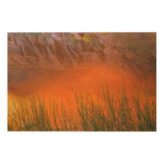 Impression Sur Bois Réflexion en canyon de gorge du canyon | de