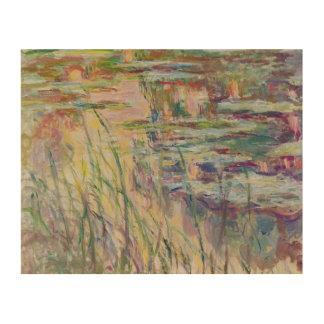 Impression Sur Bois Réflexions de Claude Monet | sur l'eau, 1917
