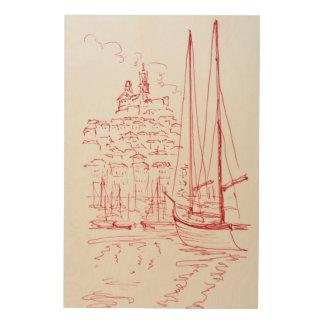 Impression Sur Bois Regardez port de Garde | de La de Notre-Dame De le