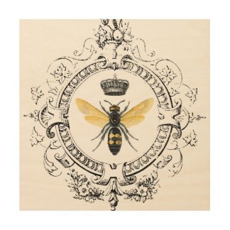 Impression Sur Bois Reine des abeilles française VINTAGE MODERNE