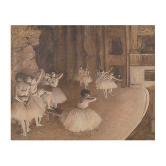 Impression Sur Bois Répétition de ballet d'Edgar Degas | sur l'étape,