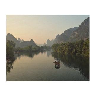 Impression Sur Bois Rivière en Chine