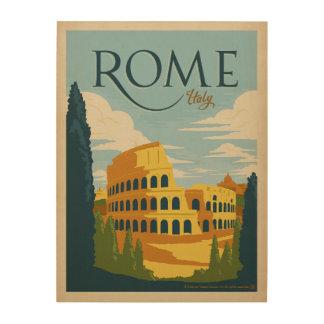 Impression Sur Bois Rome, Italie Colosseum
