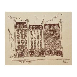 Impression Sur Bois Rue du Dragon, Saint-Germain-DES-Pres, Paris