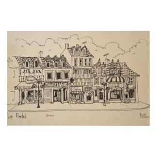 Impression Sur Bois Rue | Le Portel, France d'achats