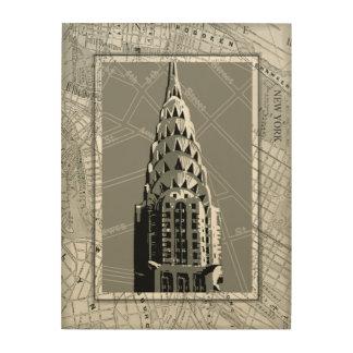 Impression Sur Bois Rues de New York avec l'Empire State Building