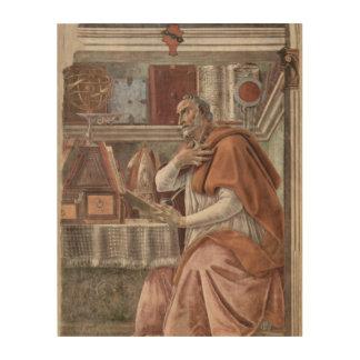 Impression Sur Bois S. Augustinus dans le studio Sandro Botticelli