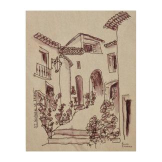 Impression Sur Bois Saint-Guilhem-Le-Désert de l'architecture |,