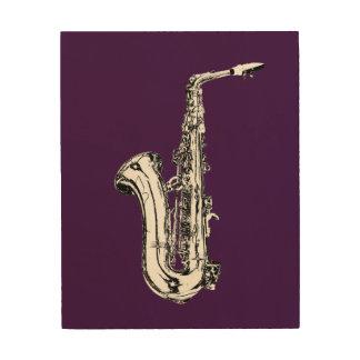 Impression Sur Bois Saxophone