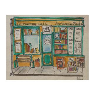 Impression Sur Bois Shakespeare et librairie | la Seine, Paris de Cie.
