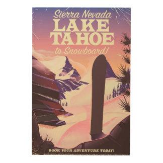 Impression Sur Bois Sierra Nevada Etats-Unis du lac Tahoe faisant du