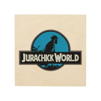 Impression Sur Bois Signe en bois de couleur du monde de Jurachick