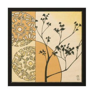 Impression Sur Bois Silhouette clairsemée d'arbre par Megan Meagher