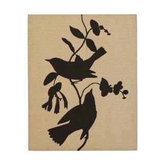 Impression Sur Bois Silhouette IV d'Audubon