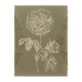 Impression Sur Bois Soulagement floral I