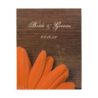 Impression Sur Bois Souvenir rustique de mariage campagnard de