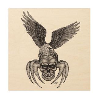 Impression Sur Bois Spiderskull avec Eagle