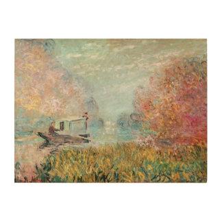 Impression Sur Bois Studio de bateau de Claude Monet | sur la Seine
