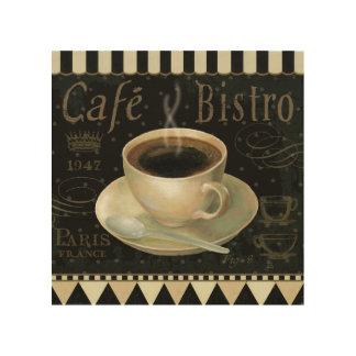 Impression Sur Bois Tasse de café noire