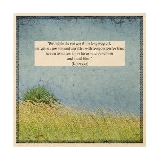 Impression Sur Bois Texte de bible sur la belle toile en bois