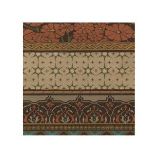 Impression Sur Bois Textile d'héritage avec les motifs décoratifs