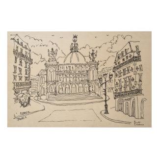 Impression Sur Bois Théatre de l'opéra | Paris, France de Palais