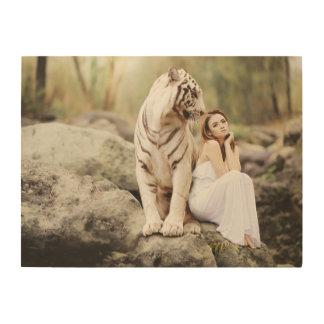 Impression Sur Bois Tigre et Madame de Bengale