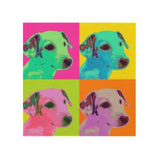 Impression Sur Bois Toile de bois. Chien, Jack Russels terriers. Type