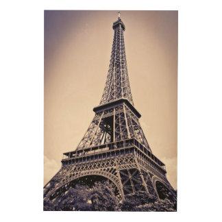 Impression Sur Bois Tour Eiffel, Paris, France