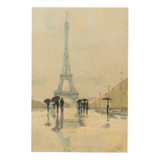 Impression Sur Bois Tour Eiffel | Paris sous la pluie