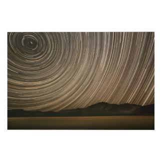 Impression Sur Bois Traînée d'étoile la nuit | la Californie, Death