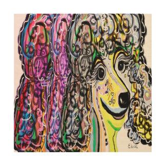 Impression Sur Bois Transition de couleur de caniche