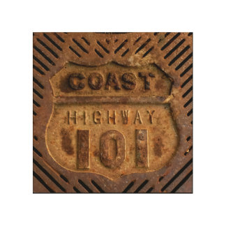 Impression Sur Bois Travail de fer de la route 101 de côte à côté de