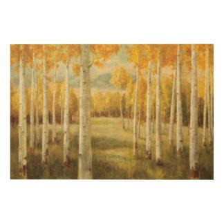 Impression Sur Bois Trembles en automne