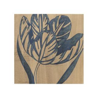 Impression Sur Bois Tulipe d'indigo