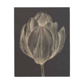 Impression Sur Bois Tulipe monochrome I