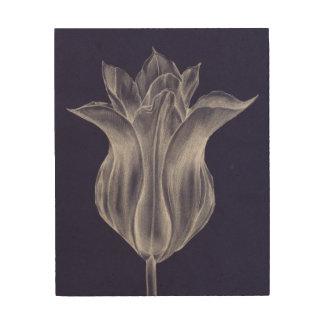 Impression Sur Bois Tulipe monochrome III