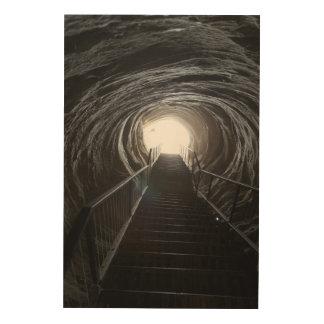 Impression Sur Bois Tunnel foncé de caverne