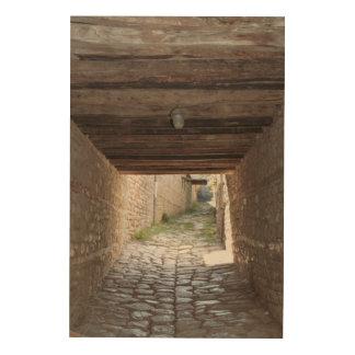 Impression Sur Bois Tunnel par l'allée, Lahic