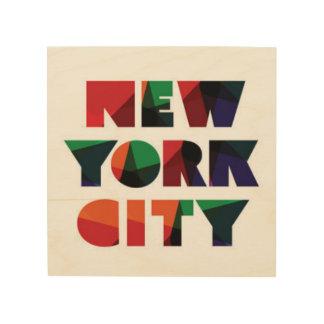 Impression Sur Bois Typographie audacieuse de New York City  