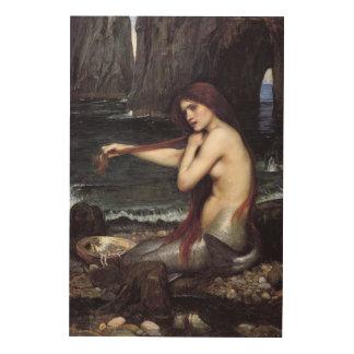 Impression Sur Bois Une sirène par J W WaTERHOuSE, 1901