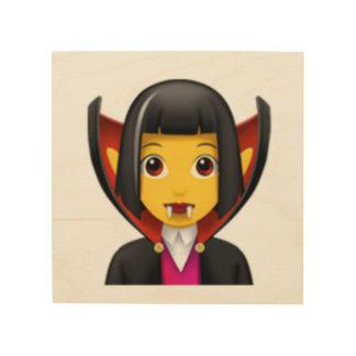 Impression Sur Bois Vampire de femme - Emoji