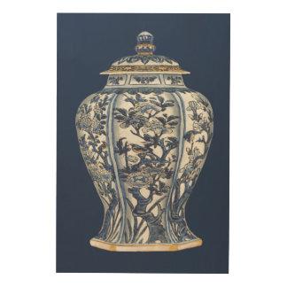 Impression Sur Bois Vase bleu et blanc à porcelaine par le studio de