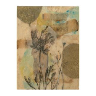 Impression Sur Bois Vélin II floral
