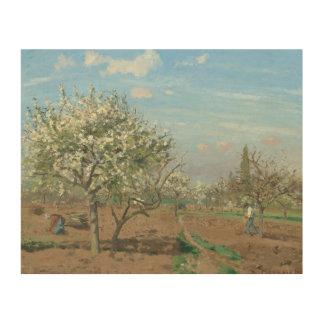 Impression Sur Bois Verger en fleur, Louveciennes France par Pissarro
