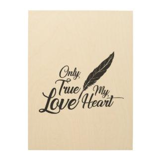 Impression Sur Bois Véritable plume d'amour d'illustration