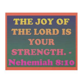 Impression Sur Bois Vers de bible de 8h10 de Nehemiah.