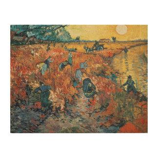 Impression Sur Bois Vignobles de rouge de Vincent van Gogh   chez