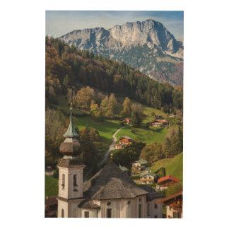 Impression Sur Bois Village bavarois étrange, Allemagne